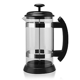 Stainless Steel Glass Household French Press Pot Filter Cafetiere Tea Coffee Maker