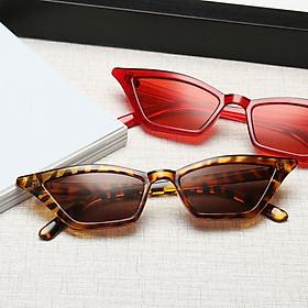 Women Designer Tiny Cat Eye Vintage Sunglasses Flat Lenses Eyeglasses UV400