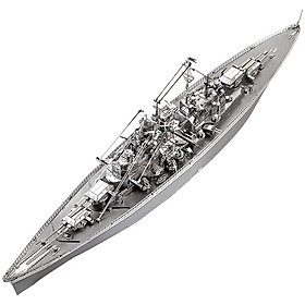 Mô Hình Lắp Ráp Kim Loại Piececool P084-S - Thiết Giáp Hạm Đức Bismarck (207 chi tiết)