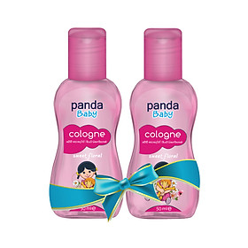 Combo 2 Chai Nước hoa cho bé Panda Baby Cologne 50ml (Sweet Floral 50ml, Mother's Love 50ml và Fairy's Touch 50ml)