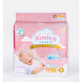 Tã dán Amico nội địa Nhật size NB90+6