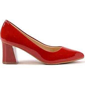 Giày Cao Gót Nữ Vasmono Da Bóng Công Sở V015074