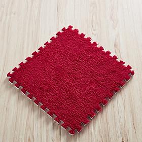 Thảm lông ghép trải sàn loại dày dặn mềm mịn bền đẹp size 30x30 cm (Tặng cặp vòng tay chỉ đỏ)