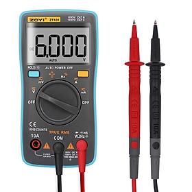 Đồng hồ đo điện vạn năng Zoyi ZT-101 và ZT-102 Kỹ Thuật Số Vạn Năng 6000 đếm Đèn Nền AC/DC Ampe Kế Vôn Kế Ohm