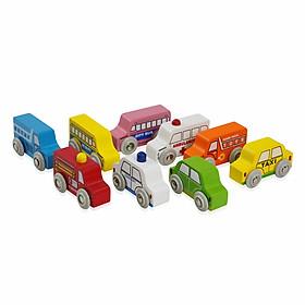 Đồ chơi gỗ Trọn bộ sưu tập xe trong thành phố Colligo 11210 (7 chiếc xe)