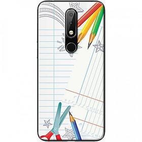 Ốp lưng dành cho Nokia 3.1 Plus mẫu Kéo chì màu