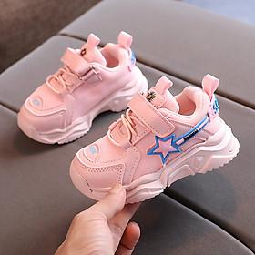 Giày thể thao bé gái 1 - 5 tuổi họa tiết hoa cục siêu nhẹ da mềm quai dán GE68
