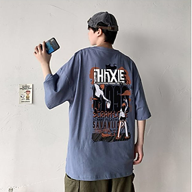 4 Color【M-3XL】Summer New Style Fashion Pattern Printed Graphic Short Sleeve T-shirt Men Breathable Unisex Half Sleeve T-shirt Oversize Student Short T-shirt Couple Wear