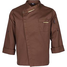 Áo Khoác Nam Unisex áo Khoác Dài Tay áo Sơ Mi Nhà Bếp
