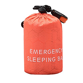 Portable Thermal Emergency Sleeping Bag With Compression Storage Sack For Camping Exploring - Sleeping Bag & Sack