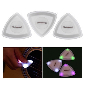 Rockhouse LED Guitar Pick Luminous Guitar Picks Built-in 3pcs LEDs for Acoustic Folk Guitar Electric Guitars