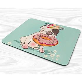 Miếng lót chuột mẫu Chú chó, bánh donut