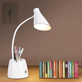 Đèn Bàn Học Đọc Sách LED Chống Cận 03 Chế Độ Ánh Sáng Bảo Vệ Mắt Có Hộp Bút Và Giá Để Điện Thoại eLights