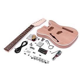 Bộ Dụng Cụ DIY Lắp Ráp Đàn Guitar Điện Kiểu Dáng TL Thân Gỗ Kèm Lỗ Gỗ Thích Và Cổ Gỗ Hồng Sắc Muslady