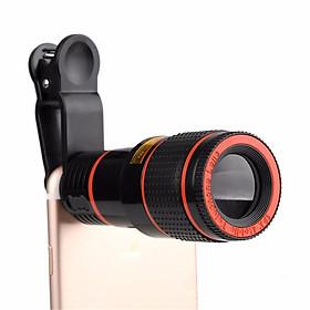 Ống Kính Điện Thoại Zoom 12x Cho Điện Thoại Iphone / Samsung / Huawei / Xiaomi