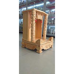 Bàn thờ Thần Tài Ông Địa đẹp gỗ Thông ngang 48 cao 68 , Mã SP T2 - Đồ Thờ Thắng Duyên Đại Phát