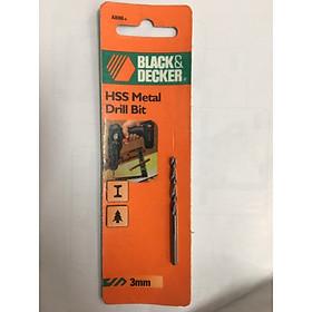 Mũi khoan sắt 3.0MM HSS  Black& Decker A8066