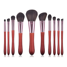 10Pcs Makeup Brush Set Foundation Brush Eyeshadow Brush Lip Brush Blush Brush Lip Brush Kit