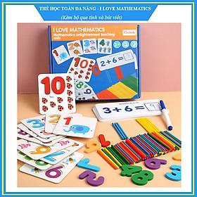 Thẻ học toán - Bộ học toán đa năng kèm que tính - I Love Mathematics