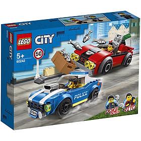 Đồ Chơi Lắp Ghép LEGO City Truy Đuổi Trên Cao Tốc 60242 (185 Chi Tiết)