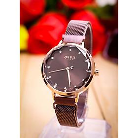 Đồng hồ nữ JA-1143 Julius Hàn Quốc dây thép nam châm thời thượng