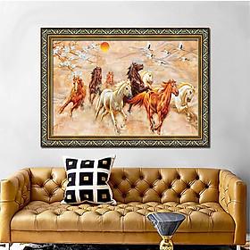 Tranh treo tường trang trí phòng khách, phòng ngủ, phòng ăn Mã Đáo Thành Công - Bát mã truy phong: 1315L8