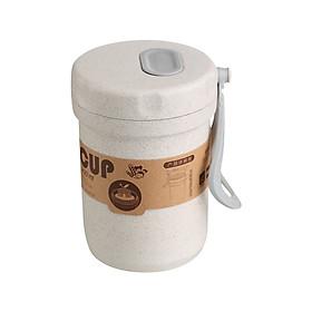 Ly giữ nhiệt lúa mì cao cấp có nắp đậy và quai xách 300ml