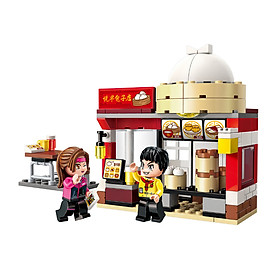 Đồ chơi lắp ráp nhà hàng Golden Baozi Qman 1132 (122 chi tiết)