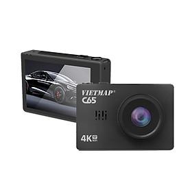 VIETMAP C65 - Camera Hành Trình Cảm Ứng Ghi Hình Trước Sau + Cảnh báo bằng giọng nói + Wifi + Thẻ nhớ 32GB - Hàng Chính Hãng