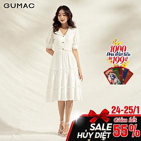Đầm rã tùng nhún GUMAC DA1194