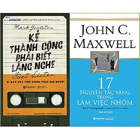 Combo Làm Việc Nhóm Thành Công ( Kẻ Thành Công Phải Biết Lắng Nghe + 17 Nguyên Tắc Vàng Trong Làm Việc Nhóm ) tặng kèm bookmark Sáng Tạo