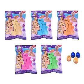 Combo 5 túi đồ chơi cát motion sand tặng kèm bộ khuôn làm bánh