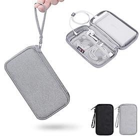 Túi phụ kiện công nghệ BUBM chuyên dụng 1 ngăn, 2 ngăn đựng dây cáp, pin sạc dự phòng có quai xách cầm tay tiện lợi- Hàng chính hãng