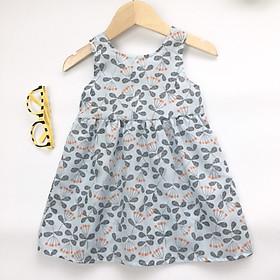 Váy thô hoa nhí phối nơ cho bé gái từ 1-6 tuổi