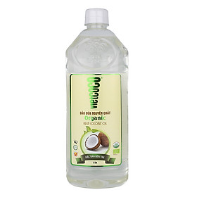 Dầu dừa nguyên chất Organic Vietcoco chai pet 1000ml
