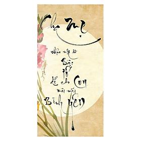 Tranh Thư Pháp Chữ Cha Mẹ 2595 (30 x 60 cm)