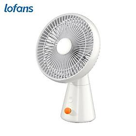 Xiaomi Lofans Cordless Desktop Fan Portable Fan 4 Speeds Adjustable/Low Noise/Type-C Interface/ 3000mAh Rechargeable/Built-in