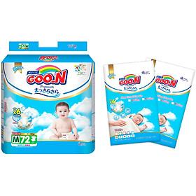 Tã dán Goon Premium cao cấp gói siêu đại M72 (7kg ~ 12kg) + Tặng thêm 10 miếng cùng size