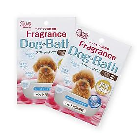 Bộ 2 set muối tắm cho cún dạng viên hương hoa hồng (set 2 viên) - Hàng nội địa Nhật