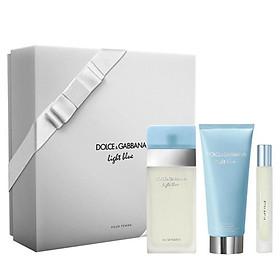 Dolce & Gabbana for Women Light Blue Eau de Toilette 100ml Spray 3 Piece Set with Rollerball