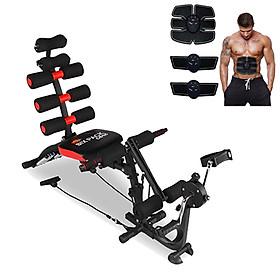 Combo Máy tập cơ bụng đa năng six pack care đạp xe + Máy massage xung điện EMS