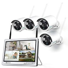 Hệ Thống Camera An Ninh HM243, 1080P Và Màn Hình LCD 12inch - Hàng Chính Hãng