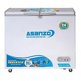 TỦ ĐÔNG INVERTER ASANZO 235 LÍT AS-3100R1 ĐỒNG (R600A)  - chỉ giao HCM