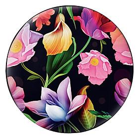 Gối Ôm Tròn Hoa Màu Hồng Tím - GOHT160