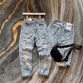 ️ Quần jeans rách cá tính. Size S M L
