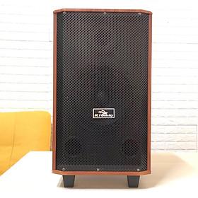 Loa kẹo kéo di động k88 có bluetooth kèm 2 micro thùng gỗ bass karaoke hay