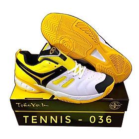 Giày Tennis Chí Phèo TN036 Trắng Vàng
