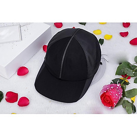 Mũ lưỡi trai nón kết sơn vải dù phối lưới nam nữ thời trang cao cấp đen lưới đen