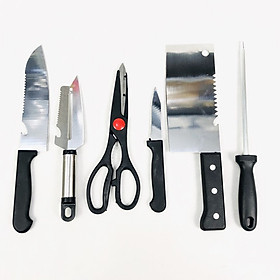 Bộ dụng cụ nhà bếp dao kéo 6 móngng