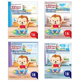 Combo Bộ sách Giáo khoa Toán Singapore - More than a Textbook – Classroom Mathematics lớp 1 (Trọn Bộ 4 Cuốn/ Tặng kèm Bookmark Happy Life)